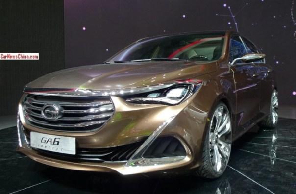 Guangzhou Auto Trumpchi GA6 Concept debuts on the Beijing Auto Show