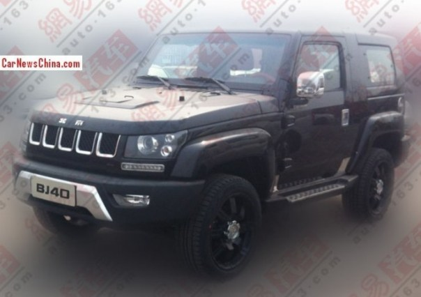 Spy Shots: Beijing Auto BJ40 Dark Knight is Ready for the China car market