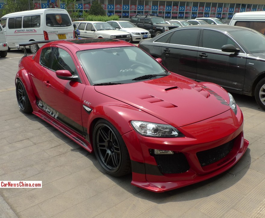 mazda rx8 modified red. mazdax8china2 mazda rx8 modified red