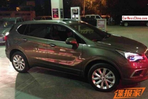 Spy Shots: first Photos of the Buick Envision SUV on the Road in China