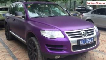 Volkswagen Touareg in matte-black from China - CarNewsChina com
