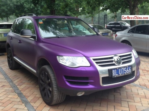 Volkswagen Touareg is matte Purple in China