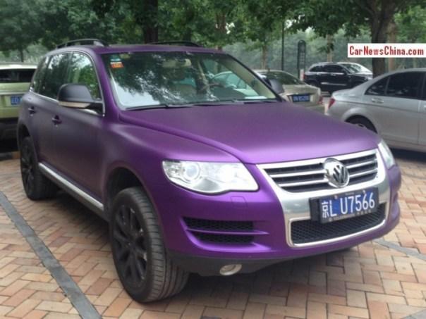 Volkswagen Touareg is matte Purple in China