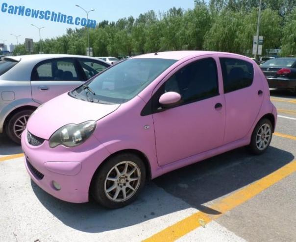 BYD F0 is matte Pink in China