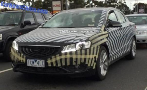 Spy Shots: Geely Emgrand GC9 testing in Australia