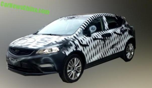 Spy Shots: Geely Emgrand Cross seen Testing in China
