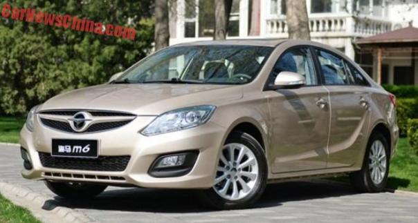 Haima M6 hits the Chinese auto market