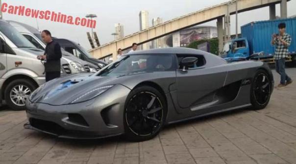 Koenigsegg Agera R is matte gray in China