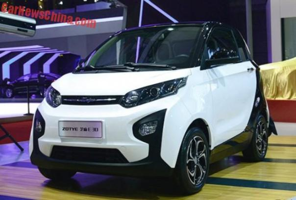 Zotye Zhima E30 EV electrifies the Shanghai Auto Show in China