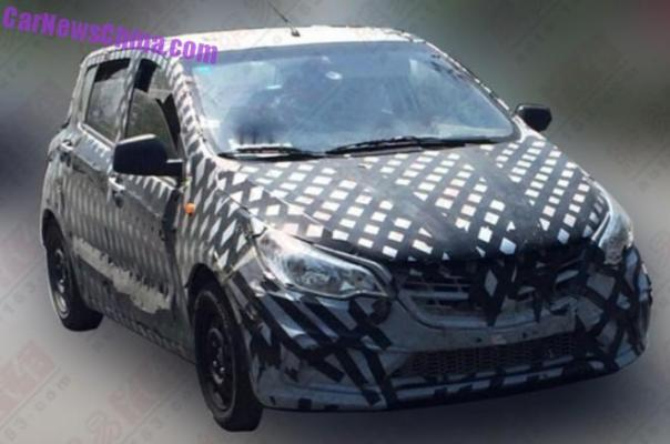 Spy Shots: Wuling Baojun 310 testing in China