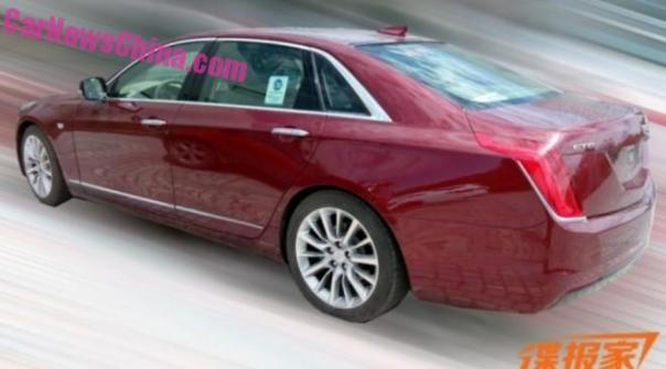 Spy Shots: Cadillac CT6 is cherry red in China
