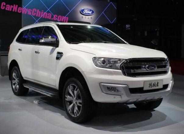 Ford Everest SUV hits the Chinese car market