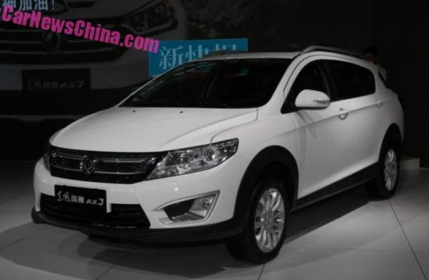 Dongfeng Fengshen AX3 hits the 2015 Chengdu Auto Show in China