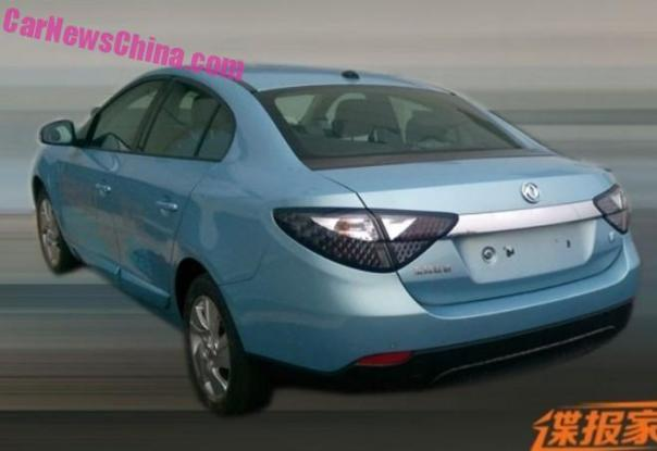 Spy Shots: Renault Fluence Z.E. is going Dongfeng in China
