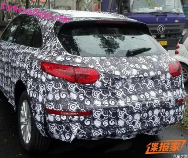 Spy Shots: Zotye T700 'Porsche Macan' testing in China