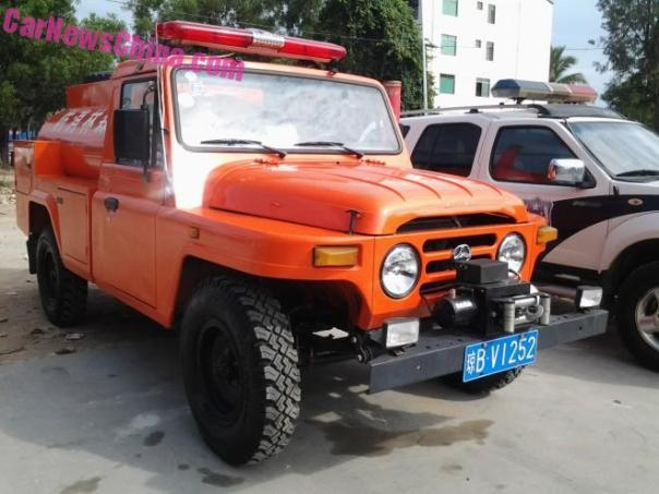 Spotted in China: Beijing Auto Works forest fire truck