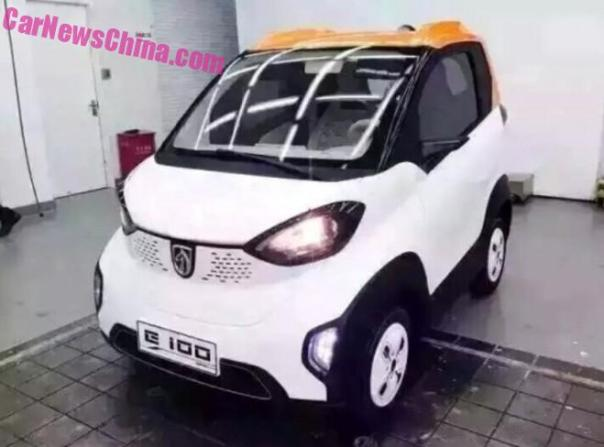 New Spy Shots of the Baojun E100 city EV for China