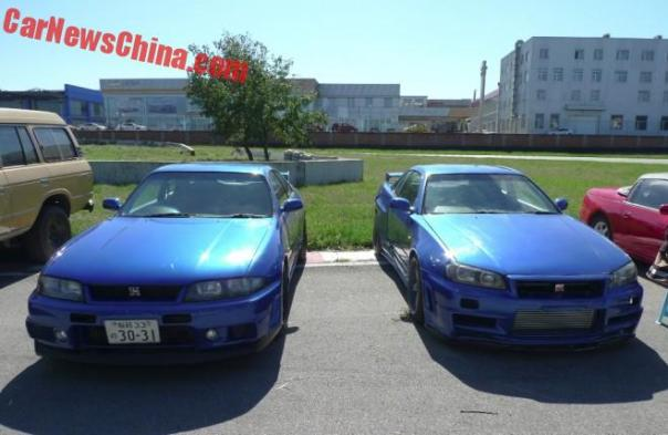 Nissan Skyline GT-R sandwich on the Tuning Show in China