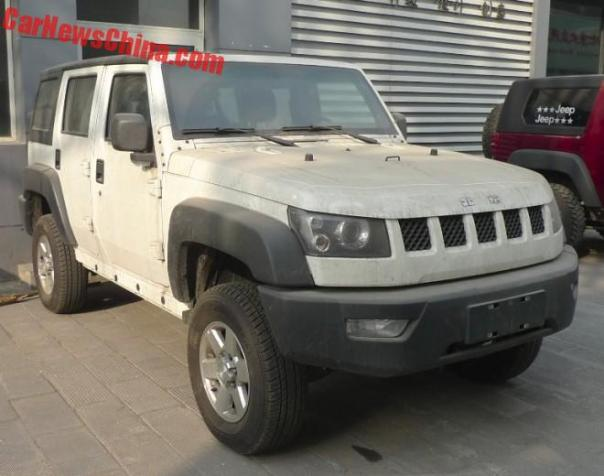 Spy Shots: Beijing Auto BJ40L is Naked in Beijing