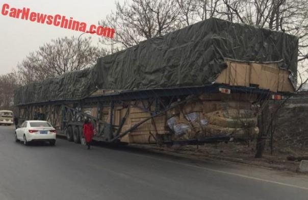 Chinese Truck has a Little Overhang at the Rear to take More Stuff