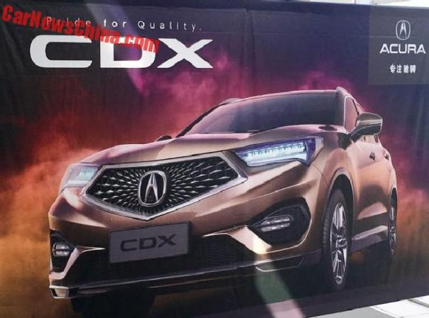 New Photos of the Acura CDX for China