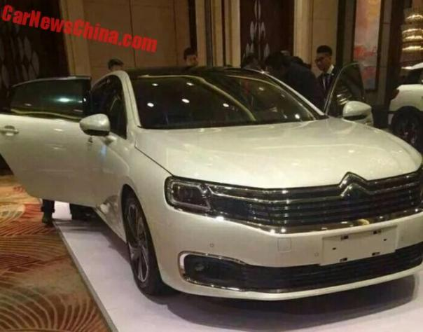 First Photos of the new Citroen C6 for China