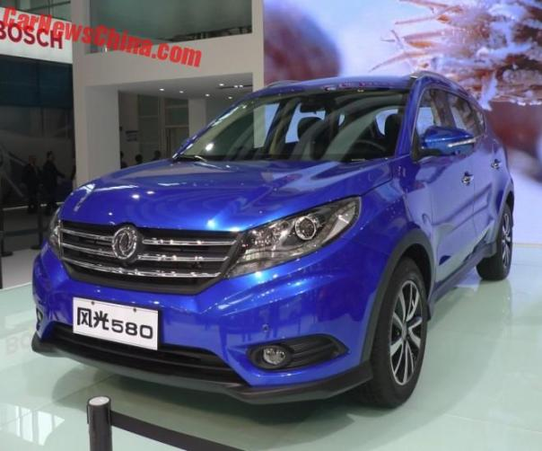Dongfeng Fengguang 580 SUV launched on the Beijing Auto Show in China