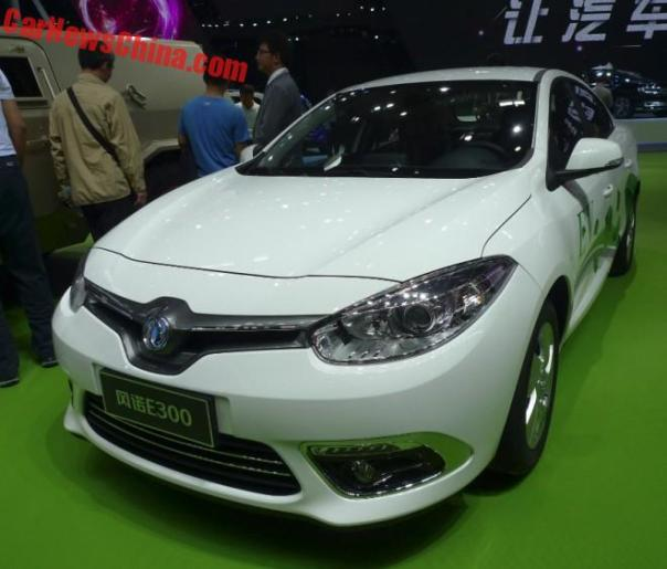 Dongfeng Fengnuo E300 EV Is A Renault Fluence Z.E. on the Beijing Auto Show