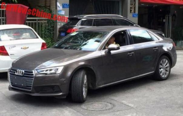 Spy Shots: Audi A4L Testing In China