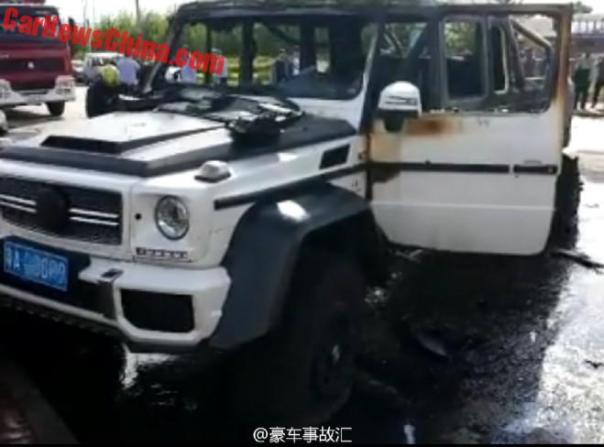 Mansory Mercedes-Benz G63 AMG 6x6 Crashed And Burned In China