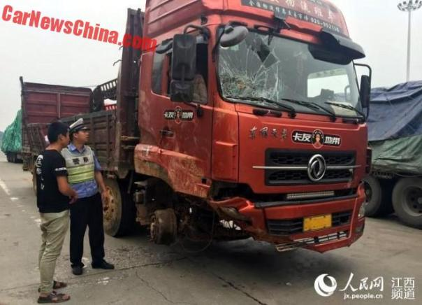 Chinese Truckers Don't Mind A Missing Wheel Or What
