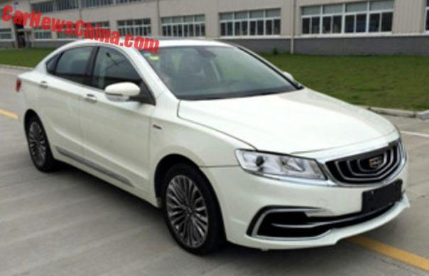 Facelift For The Geely Borui GC9 In China