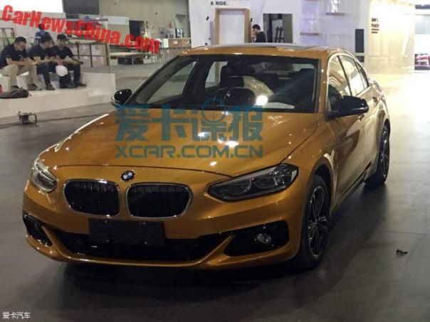 This Is The New BMW 1-Series Sedan For China