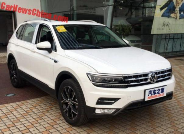 New Photos Of The Long-wheelbase Volkswagen Tiguan L For China