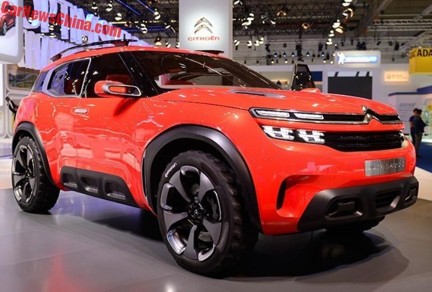 spy shots citroen c5 aircross seen testing in china china auto news. Black Bedroom Furniture Sets. Home Design Ideas