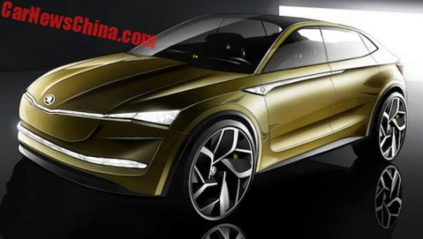 Skoda To Unveil The Vision E Concept On The Shanghai Auto Show In China