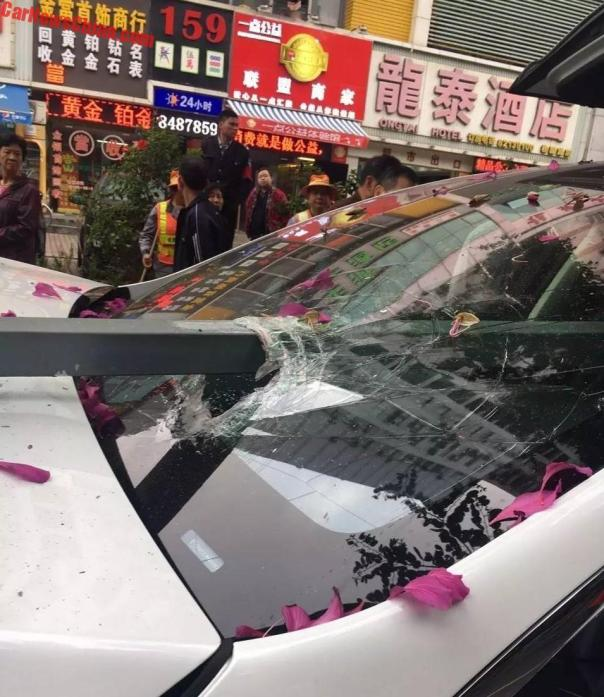 Tesla Model X Crashes Into A Tree In China, Penetrated By Guardrail