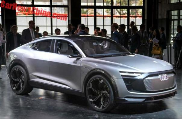 Audi e-tron Sportback Concept Launched On The Shanghai Auto Show In China