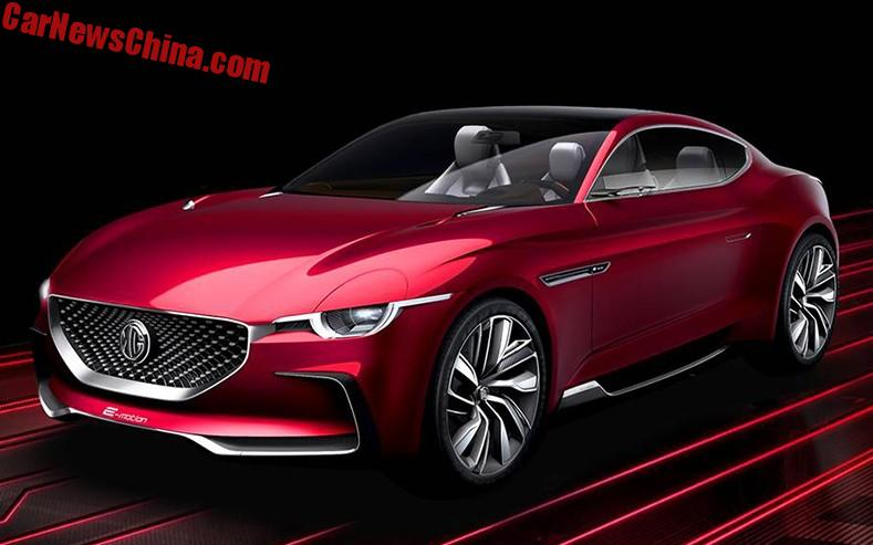 the mg e motion is a beautiful concept coupe with the wrong motor