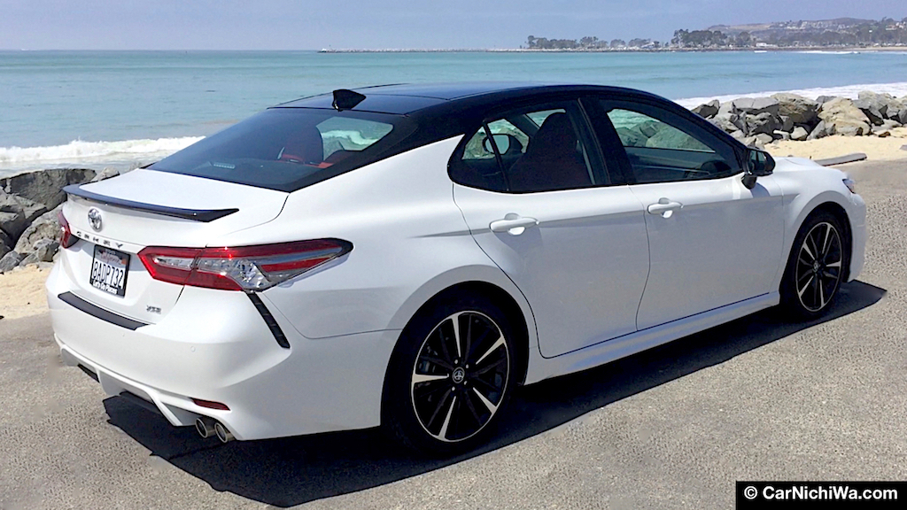 all new camry sport grand avanza type g 2018 toyota xse v6 review sports sedan surprise the best it rides on sporty 19 inch black machined finish alloys wrapped with p235 40r19 tires looks like a