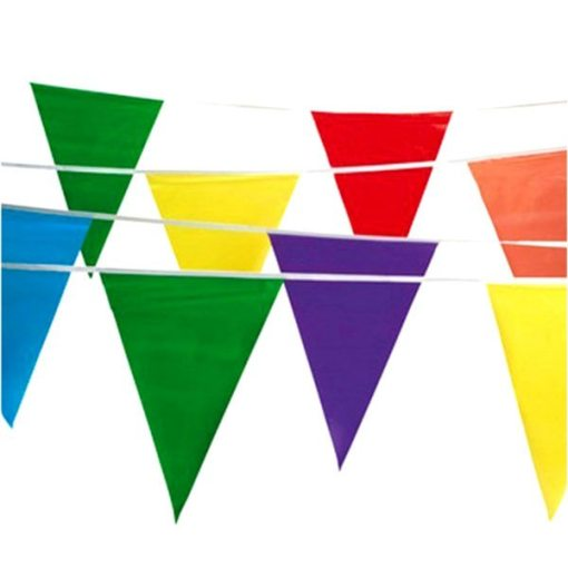 Multi Color Pennant Flag carnival Supplies