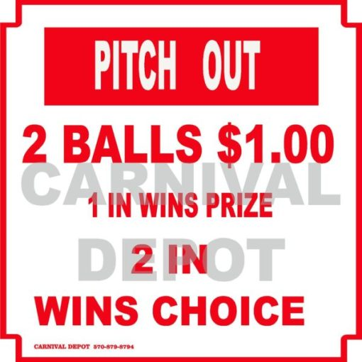 pitch out carnival sign