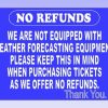 No Refunds Carnival Safety Sign