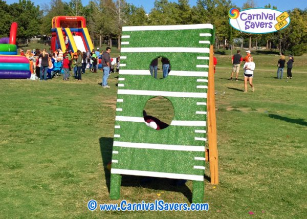 Touchdown Toss Fall Festival or Carnival Game