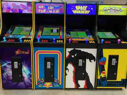 Standing Video Arcade Machines