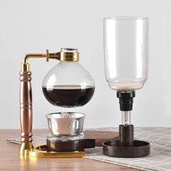 Cafetera de sifón con quemador de alcohol