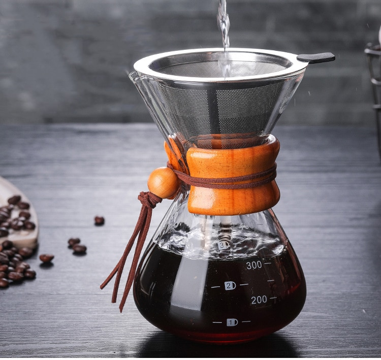 Cafeteras pour over o de vertido de agua caliente
