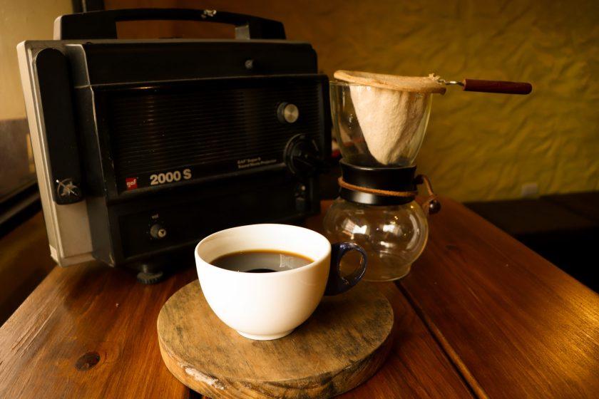 La cafetera de manga y lo que llamamos un café colado, muy arraigado en la cultura tachirense.