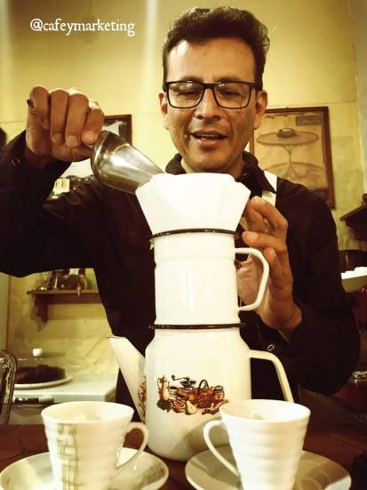 Preparación de café Pour Over