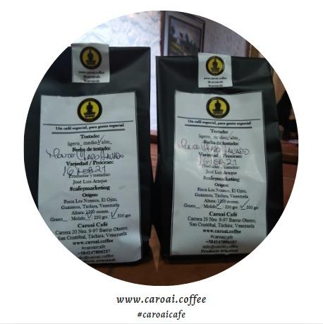 Café tostado en grano o molido de Caroai Café